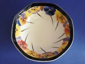 Royal Doulton 'Pansies' Series Small Octagon Bowl D4049 c1930